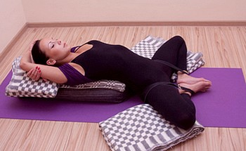 Supta Baddha Konasana - yoga exercises for women over 50