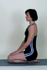vajrasana yoga pose  anadi