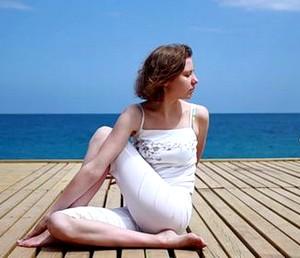half spinal twist yoga pose - ardha matsyendrasana