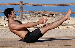 Navasana or the boat pose