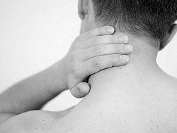 neck pain behind ear