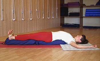 Supported Setu Bandha Sarvangasana